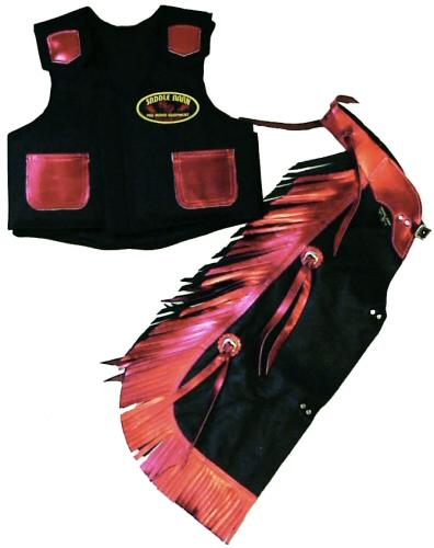 Kids Rodeo Chap Vest Combo