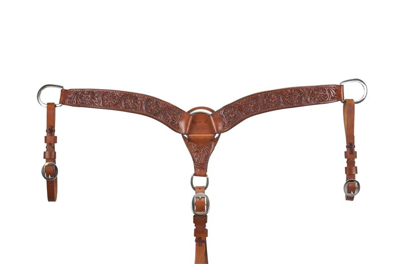 Relentless Breast Collar 2 Quot Floral Tooled